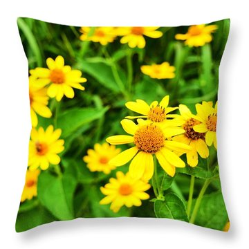 Yellow Flowers No. 2 Throw Pillow
