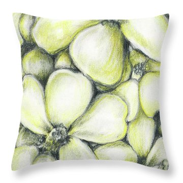 Yellow Flowers Pencil Throw Pillow
