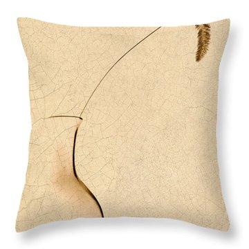 Yellow Foxtail Still Life Throw Pillow by Tom Mc Nemar