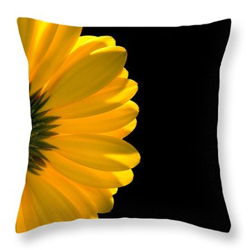 Yellow Gerbera Daisy Throw Pillow