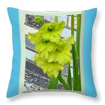 Yellow Gladiolas Throw Pillow