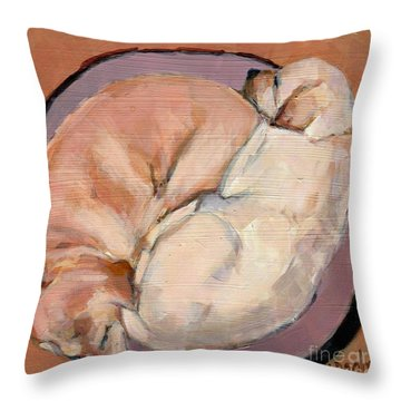 Throw Pillow featuring the painting Yellow Go Round by Molly Poole
