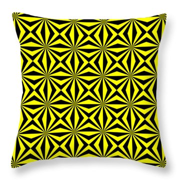Throw Pillow featuring the digital art Yellow Happiness by Lucia Sirna