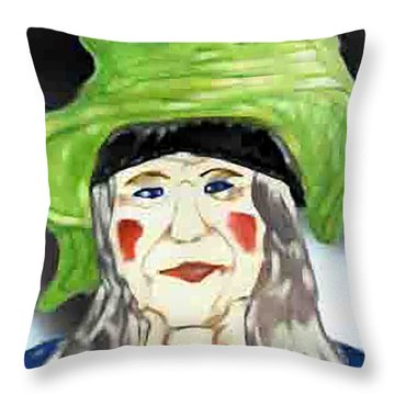 Yellow Hat Throw Pillow
