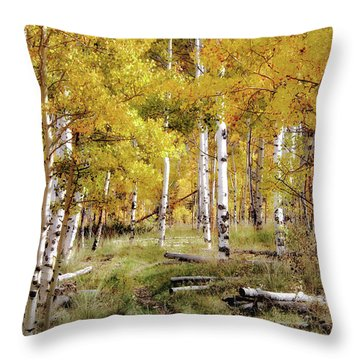 Yellow Heaven Throw Pillow by Jim Hill