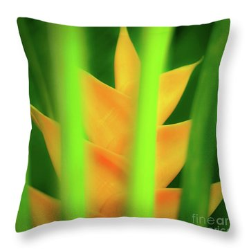 Yellow Heliconia - Tropical Hawaii - 957 Throw Pillow