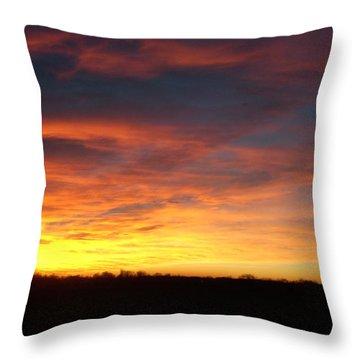 Yellow Horizon Throw Pillow
