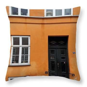 The Orange House Copenhagen Denmark Throw Pillow
