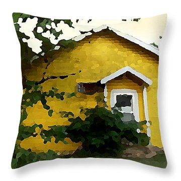 Yellow House In Shantytown  Throw Pillow