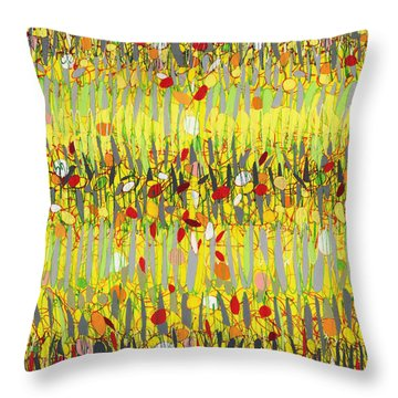 Yellow Jazz Throw Pillow