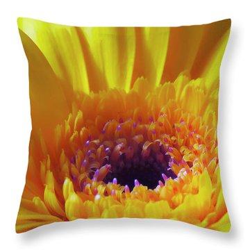 Yellow Joy And Inspiration Throw Pillow