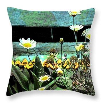 Yellow Kayaks Throw Pillow