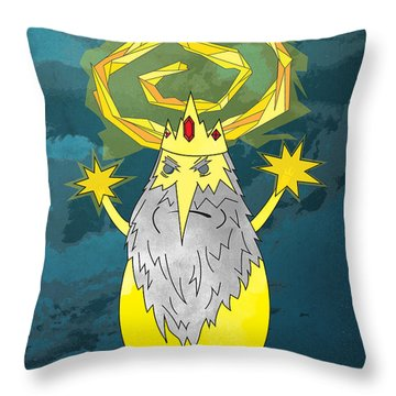 Yellow King True Detective Adventure Time Throw Pillow