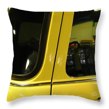 Yellow Lady Abstract Throw Pillow by Peter Piatt