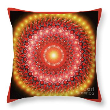 Yellow Light Throw Pillow