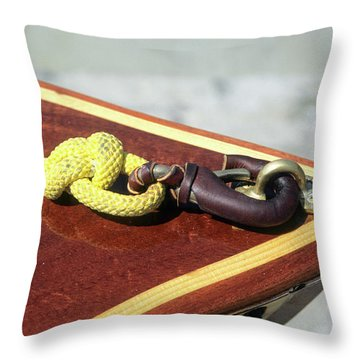 Yellow Line Throw Pillow