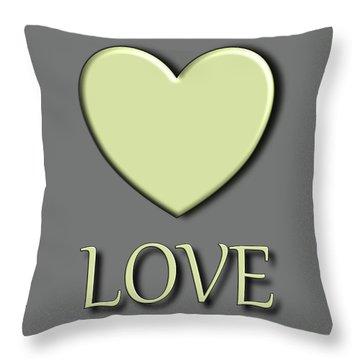 Yellow Love Throw Pillow