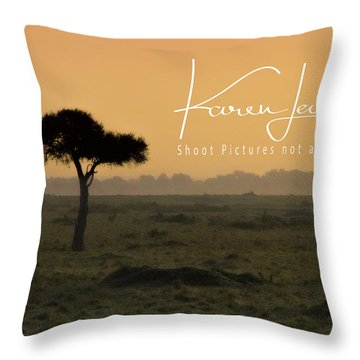 Throw Pillow featuring the photograph Yellow Mara Dawn by Karen Lewis
