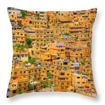Yellow Maze Throw Pillow