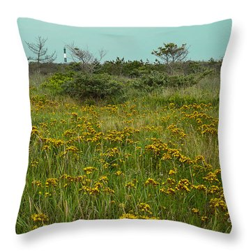 Yellow Meadow Throw Pillow