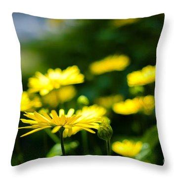 Yellow Moment Throw Pillow