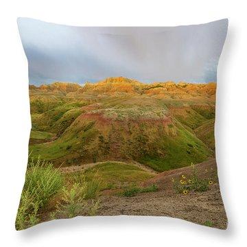 Yellow Mounds Morning Throw Pillow