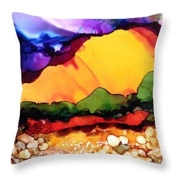 Yellow Mountain Throw Pillow