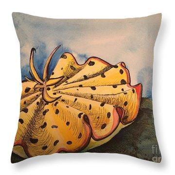 Yellow Nudibranch Throw Pillow