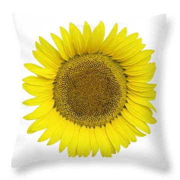Yellow On White Throw Pillow