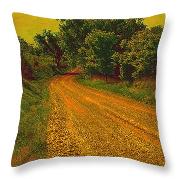 Yellow Oz Road Throw Pillow