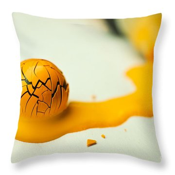 Yellow Painted Ball Throw Pillow