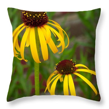 Yellow Pair Throw Pillow