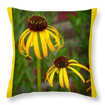 Yellow Pair Throw Pillow