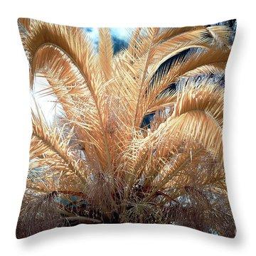 Yellow Palm Tree Throw Pillow