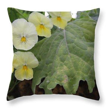 Yellow Pansies Throw Pillow