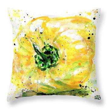 Yellow Pepper Throw Pillow
