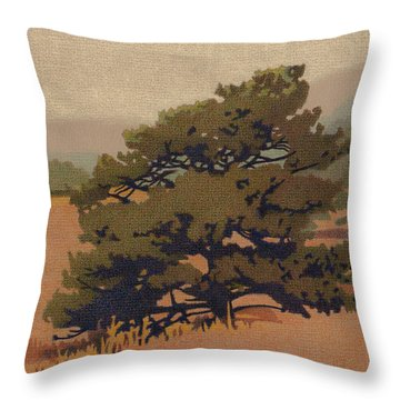 Yellow Pine Throw Pillow