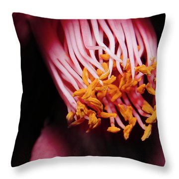 Yellow Pollen 01 Throw Pillow