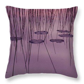 Yellow Pond Lilies Nuphar Advena Throw Pillow