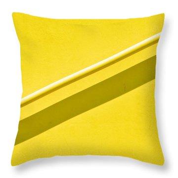 Yellow Rail Throw Pillow