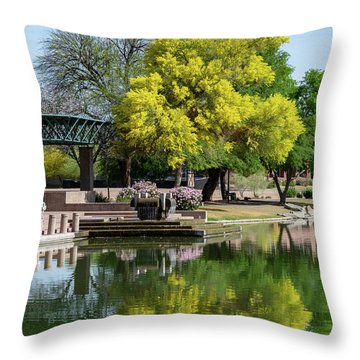 Yellow Reflection Throw Pillow
