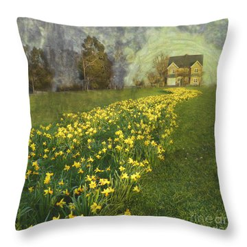 Yellow River To My Door Throw Pillow