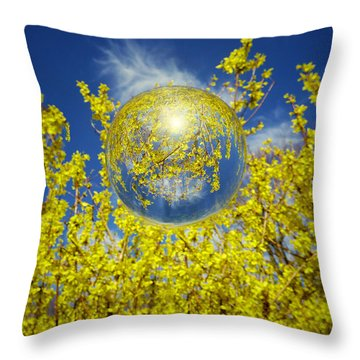 Throw Pillow featuring the photograph Yellow by Robert Geary