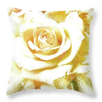 Throw Pillow featuring the photograph yellow Rose by Athala Carole Bruckner