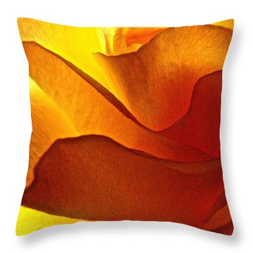 Throw Pillow featuring the photograph Yellow Rose In The Sun by Lori Miller