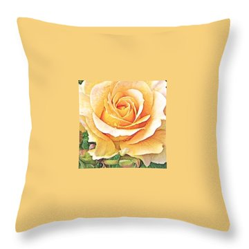 Throw Pillow featuring the photograph Yellow Rose by Karen Shackles