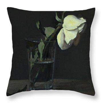 Yellow Rose No. 3 Throw Pillow