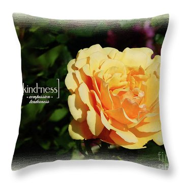 Yellow Rose Of Kindness Throw Pillow