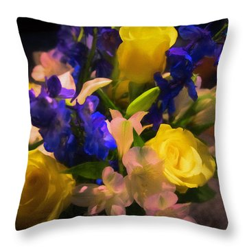 Yellow Rose Of Texas Throw Pillow