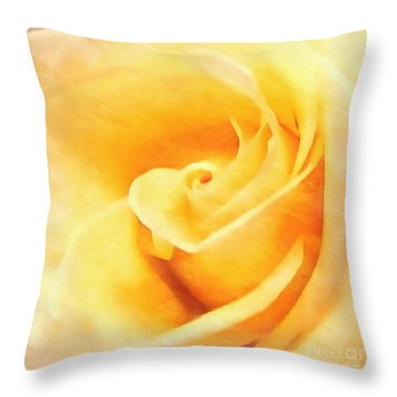 Throw Pillow featuring the photograph Yellow Rose - Sweet Whispers by Janine Riley